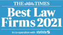 The Times Best Law Firms 2021 logo